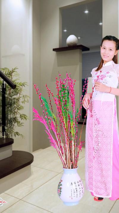 努力家のベトナム女性20代