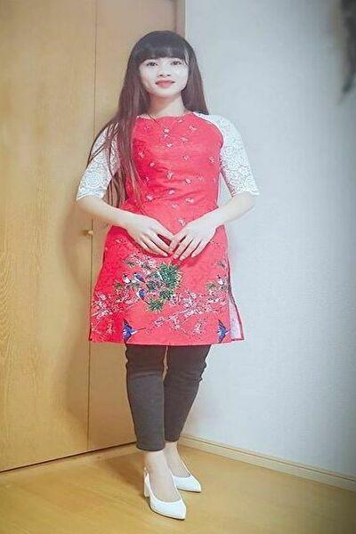 群馬県在中の長い黒髪が素敵な在日ベトナム女性20代